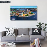 HD Olieverfschilderij het Van de binnenstad van het Af:drukken van het Canvas van de Mening van de Stad van af:drukken
