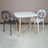 (SP-RT527)現代木足の正方形の白いプラスチックダイニングテーブル
