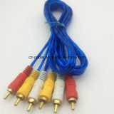 3 RCA aan 3RCA Kabel, 3.5mm/3.5, 6.35mm/6.35 (1/4 duim), StereoStop 6.5mm/6.5 aan 2xrca Av/tv- Audio/de Kabel van Media