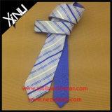 Mens al por mayor de doble cara seda tejida corbata reversible