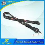 Faixa de impressão de transferência de calor personalizado profissional com clip de plástico (XF-LY07)
