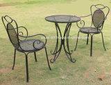 Mobília de jardim ao ar livre Mesa de ferro e conjunto de cadeiras