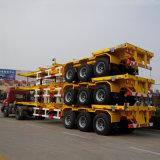 L'essieu à faible prix 3 remorque de camion semi-remorque de conteneur à plat