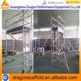 中国のアルミニウム足場、工場価格の上昇の梯子の足場