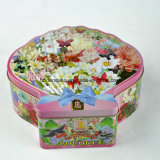 사탕, 사탕 주석 상자를 위한 주문 쉘 모양 양철 깡통