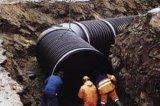 Tubo ondulato di rinforzo di spirale dell'HDPE della fascia d'acciaio del tubo di drenaggio