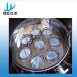 Grande filtro de saco do aço inoxidável do fluxo para recicl o sistema do tratamento da água