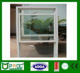 Un seul profil en aluminium de vitrage suspendu unique fenêtre avec le matériel américain