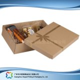 Contenitore di regalo impaccante riciclato piegatura su ordinazione dei monili della carta kraft Del piano (xc-pbn-015)