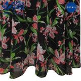 أسلوب جديدة مثير [إإكسبوسنغ-بك] [كلّرلسّ] زهرة نمو نساء عرس ثوب