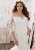 Добавочное платье свадебного банкета Mermaid Applique шнурка размера