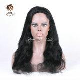 Het natuurlijke Zwarte Haar van de Pruik van het Kant van de Golf van het Lichaam van het Haar van de Kleur Volledige Menselijke Onverwerkte Braziliaanse, In het groot 100% Maagdelijk Haar Remy