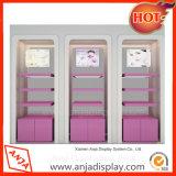 Tienda de cosméticos de la pantalla de estante de madera