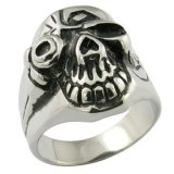 Style universel de la crâne Punk Rock Ring Cool Men Jewelry