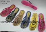 アフリカの市場(FFLT1017-01)のための大きさの安い女性のスリッパの多彩なサンダル