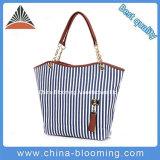 Sacchetto di spalla della banda di modo del sacchetto della spiaggia delle donne della tela di canapa di svago di estate