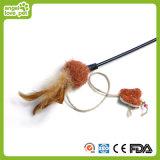 Piuma e giocattoli di seta luminosi del gatto del Rod del gatto