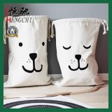 Hoge kwaliteit Cotton Canvas Drawstring Opslag Jewellery Bag