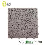 Couvre-tapis en plastique de verrouillage antidérapant de couleur grise pour la cuisine et la salle de bains