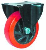 Rodízio vermelho do plutônio de 4/5 de polegada para o trole plástico com freio