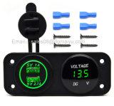 Adattatore doppio del caricatore dell'automobile del USB dell'automobile impermeabile del motociclo 12~24V + voltmetro rosso del LED