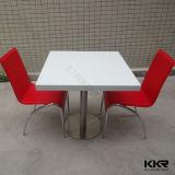 La Plaza de la superficie sólida blanca mesa de comedor para cuatro plazas (180702)