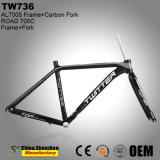 Preiswerter Soem-Kohlenstoff-Gabel-Aluminiumlegierung-Straßen-Fahrrad-Rahmen
