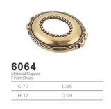 Tirón de cobre amarillo antiguo de la maneta de la cabina del tirón de la maneta 2016 (6064)