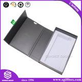 Lámina de oro personalizado de alta calidad papel negro Embalaje Caja de regalo de lujo