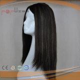 Poly Silk Top Custom Type Full Human Long Virgin Remy Cabelo Peruca