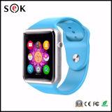 Beste intelligente Sport-Uhr des Verkaufs-A1 V8 Q8 Bluetooth für iPhone und androiden Telefon-Support Facebook Twiter