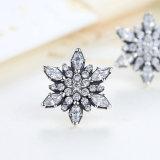 L'argento sterlina 925 Crystalized per gli orecchini della vite prigioniera degli a cristallo del fiocco di neve dei monili delle donne