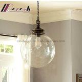 Dekorative Glaskugel-hängende Lampe mit Metall