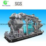 Compressor de gás elevado do pistão do controlo automático