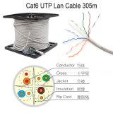 Wonterm UTP CAT6 Durchlauf-Plattfisch des LAN-Kabel-0.56mm Bc