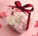 Rectángulo de acrílico del caramelo del rectángulo de regalo de la Navidad mini