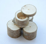 カスタムロゴの無作法な円形の木箱自然な木製ボックス