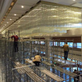 Lâmpada moderna do restaurante Dacoration, candelabro de cristal