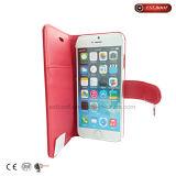 iPhone de la caja del teléfono de la carpeta 7 accesorios del caso con el soporte