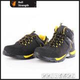 Chaussure de sûreté en cuir de Nubuck de coupure de milieu avec le mélange Outsole (SN5439)