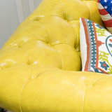 Sofá secional do couro genuíno do lazer moderno para a mobília As846 da sala de visitas