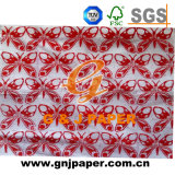 Aduana barata china de Chese impresa envolviendo el papel de tejido