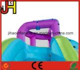 Сползите комбинированное миниое раздувное скольжение воды кривого с плавательным бассеином