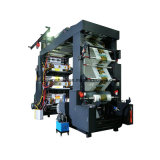 Tipo máquina da pilha de seis cores de impressão gráfica plástica de Flexo