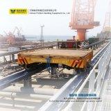 Carro eléctrico industrial de acero de la transferencia de las toneladas Bjt-15 con los carriles