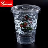 Claro desechable de plástico transparente para mascotas Batido Batido Copa
