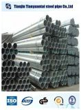 Materiales de construcción galvanizado de tubos de acero redondo / Pre galvanizado de tubos de acero