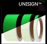 Película luminescente imprimible de color verde amarillo para la muestra Emergency