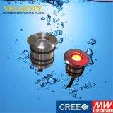 indicatore luminoso subacqueo impermeabile dell'acciaio inossidabile IP68 LED di RGB del Ce 1PCS per il raggruppamento