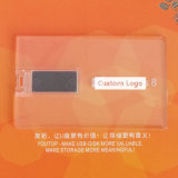 Custom Company Gift Flash Drive Transparent Card USB (YT-3101-02)
